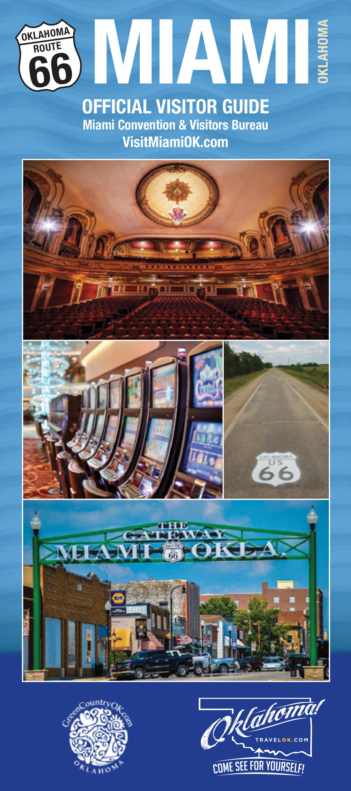 Cover of Miami Oklahoma Official Visitors Guide