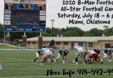 Oklahoma 8-Man Football Game set for July 18th in Miami, OK